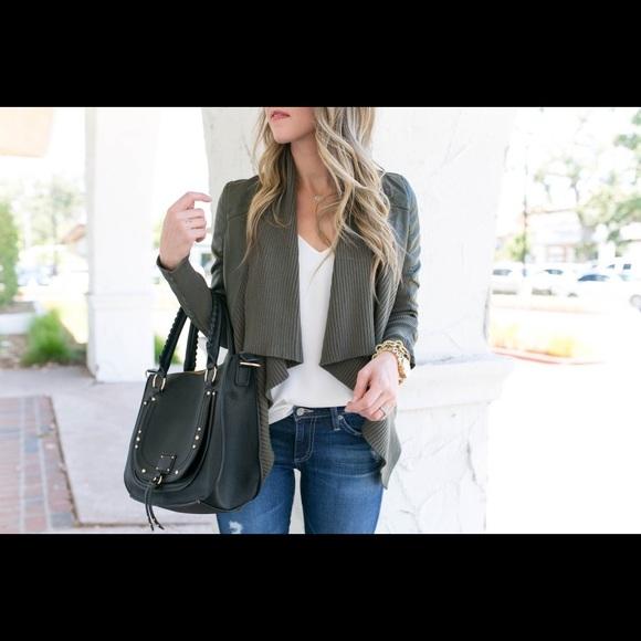 Blank NYC Jackets & Blazers - Blank NYC All or Nothinb Drape Leather Jacket